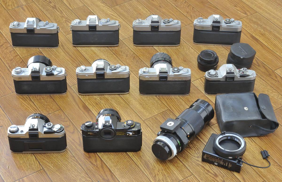 ジャンク品 Canon EF・AE-1・FTb等 ボディ10台  レンズ9本他まとめて_画像2