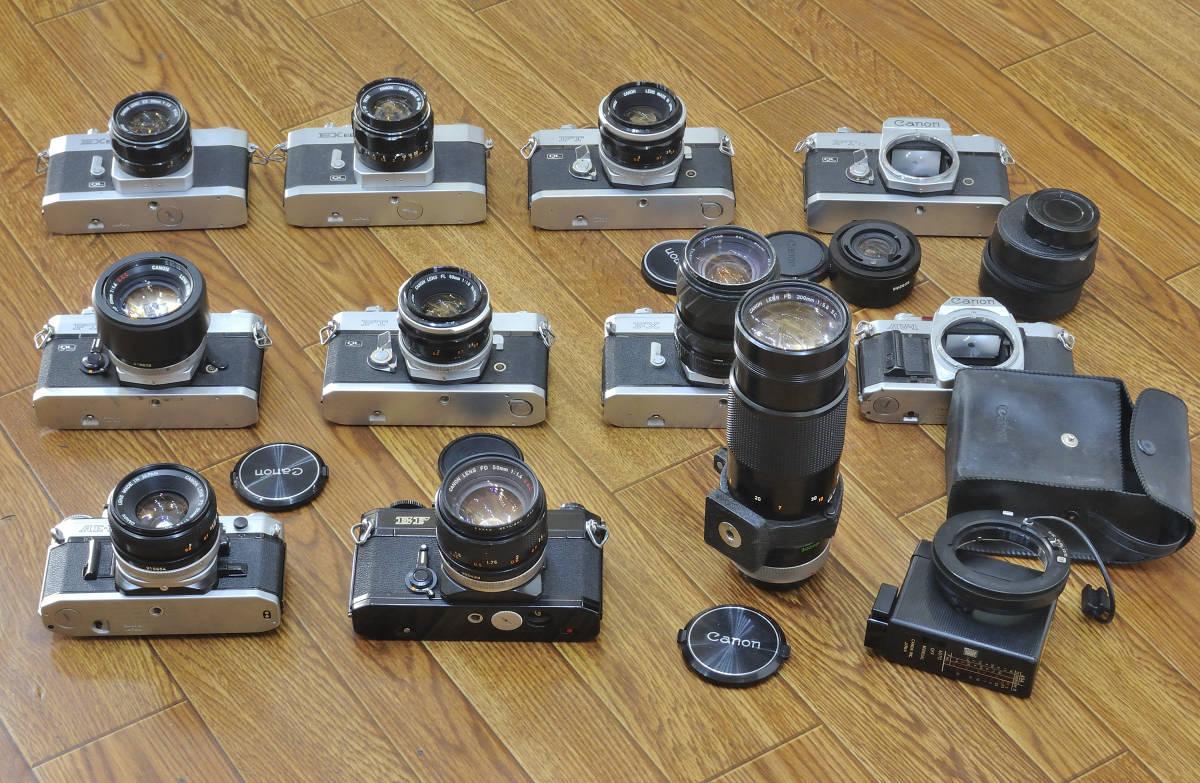 ジャンク品 Canon EF・AE-1・FTb等 ボディ10台  レンズ9本他まとめて_画像4