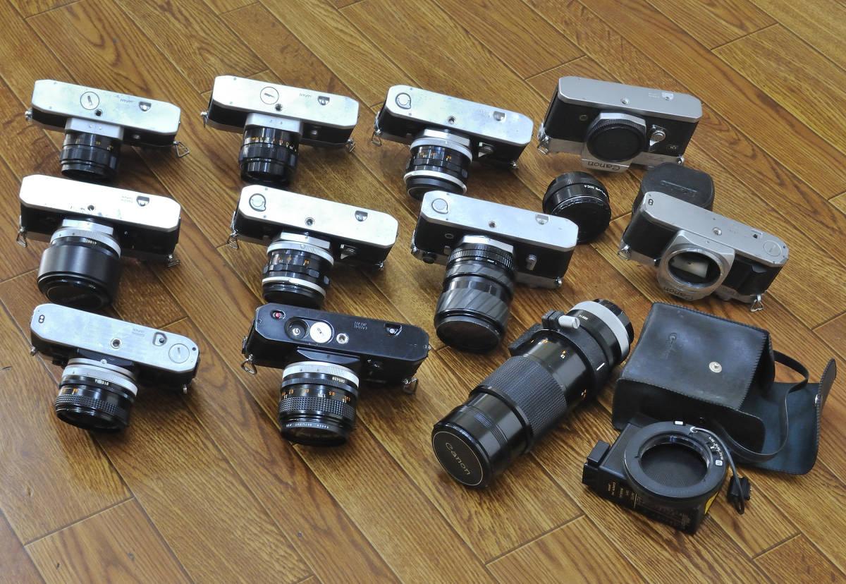 ジャンク品 Canon EF・AE-1・FTb等 ボディ10台  レンズ9本他まとめて_画像6