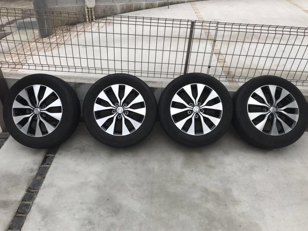 日産 セレナ C27 ハイウェイスター 純正 アルミホイール・タイヤ 4本セット エコピア EP150 195 60 16インチ 6J +45 5穴 2017年製造 美品