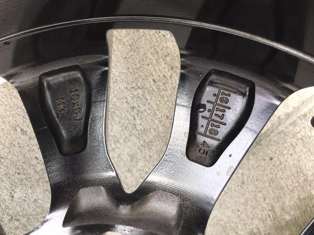 日産 セレナ C27 ハイウェイスター 純正 アルミホイール・タイヤ 4本セット エコピア EP150 195 60 16インチ 6J +45 5穴 2017年製造 美品_画像6