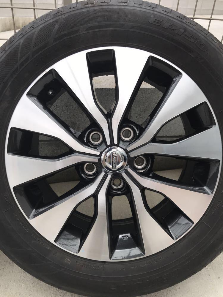 日産 セレナ C27 ハイウェイスター 純正 アルミホイール・タイヤ 4本セット エコピア EP150 195 60 16インチ 6J +45 5穴 2017年製造 美品_画像5