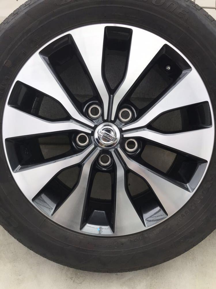 日産 セレナ C27 ハイウェイスター 純正 アルミホイール・タイヤ 4本セット エコピア EP150 195 60 16インチ 6J +45 5穴 2017年製造 美品_画像3