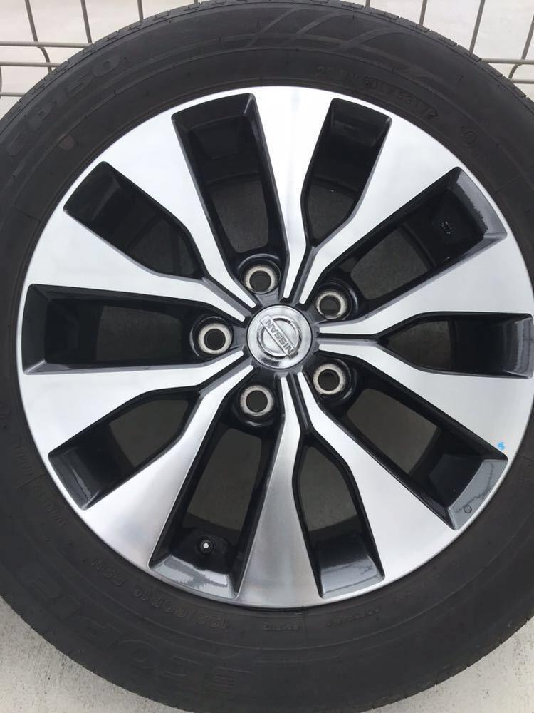 日産 セレナ C27 ハイウェイスター 純正 アルミホイール・タイヤ 4本セット エコピア EP150 195 60 16インチ 6J +45 5穴 2017年製造 美品_画像4
