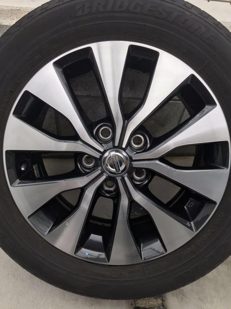 日産 セレナ C27 ハイウェイスター 純正 アルミホイール・タイヤ 4本セット エコピア EP150 195 60 16インチ 6J +45 5穴 2017年製造 美品_画像2