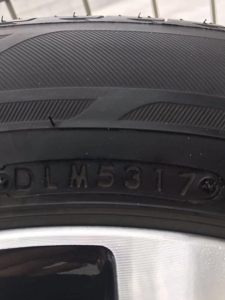 日産 セレナ C27 ハイウェイスター 純正 アルミホイール・タイヤ 4本セット エコピア EP150 195 60 16インチ 6J +45 5穴 2017年製造 美品_画像9