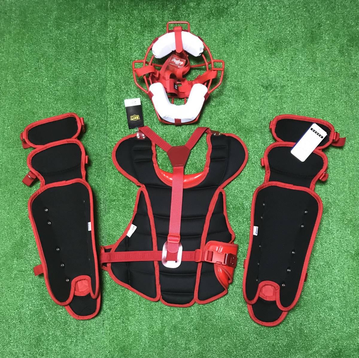 送料無料 ☆新品未使用☆ 一般ソフトボール用 キャッチャー プロテクター 防具 jSAマーク レッド_画像2