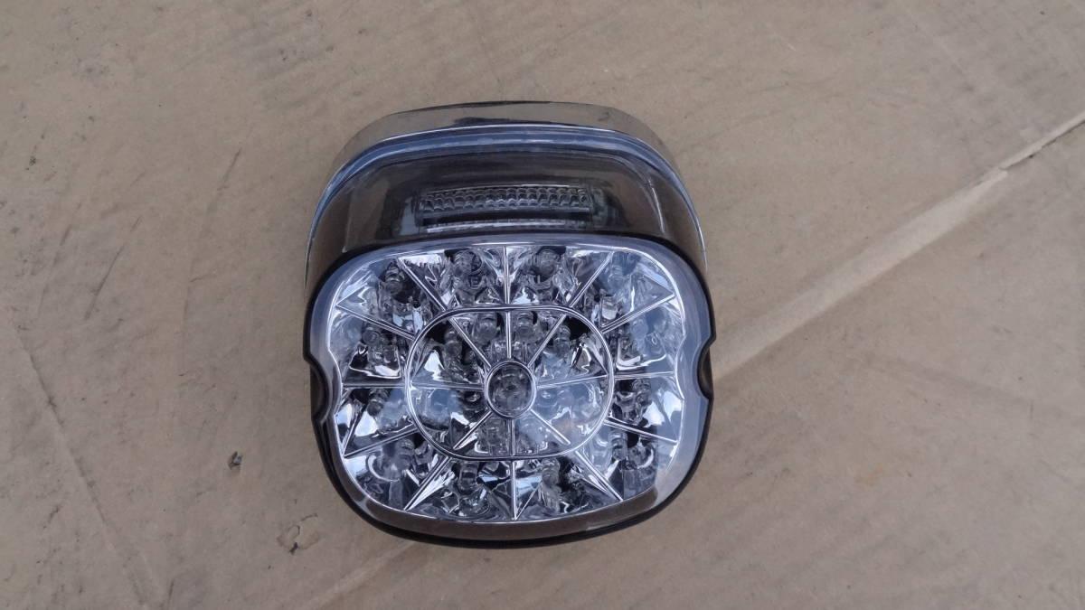 ハーレーダビッドソン用 メーカー不明LEDテールランプ ライトスモークレンズ 中古品 車検対応