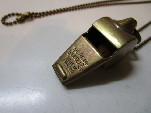 Antique The Acme Thunderer Brass(真鍮)MADE IN ENGLAND ホイッスル USED_画像5