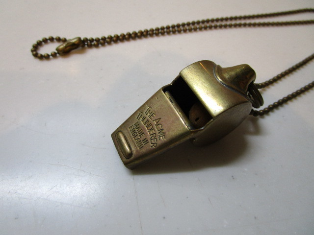 Antique The Acme Thunderer Brass(真鍮)MADE IN ENGLAND ホイッスル USED_画像4