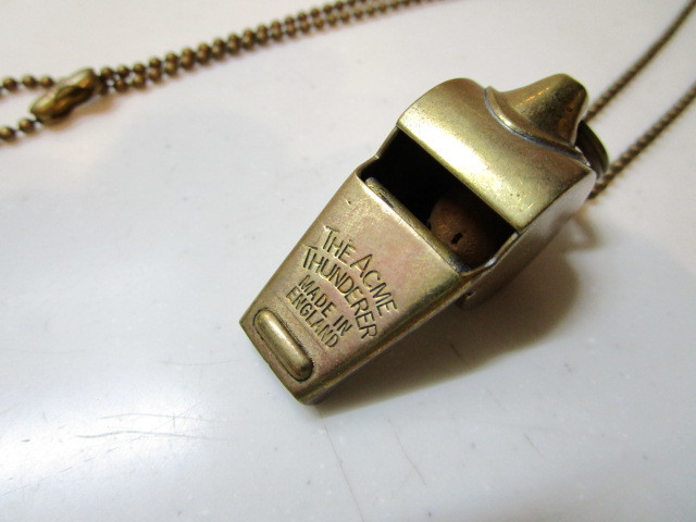 Antique The Acme Thunderer Brass(真鍮)MADE IN ENGLAND ホイッスル USED_画像6