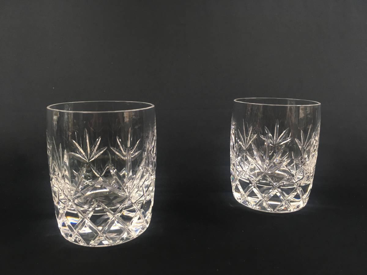 米ホワイトハウス使用 LENOX USA レノックス チャールストン クリスタルロックグラス ペア Charleston Double Old Fashioned Glass Tumbler_画像1