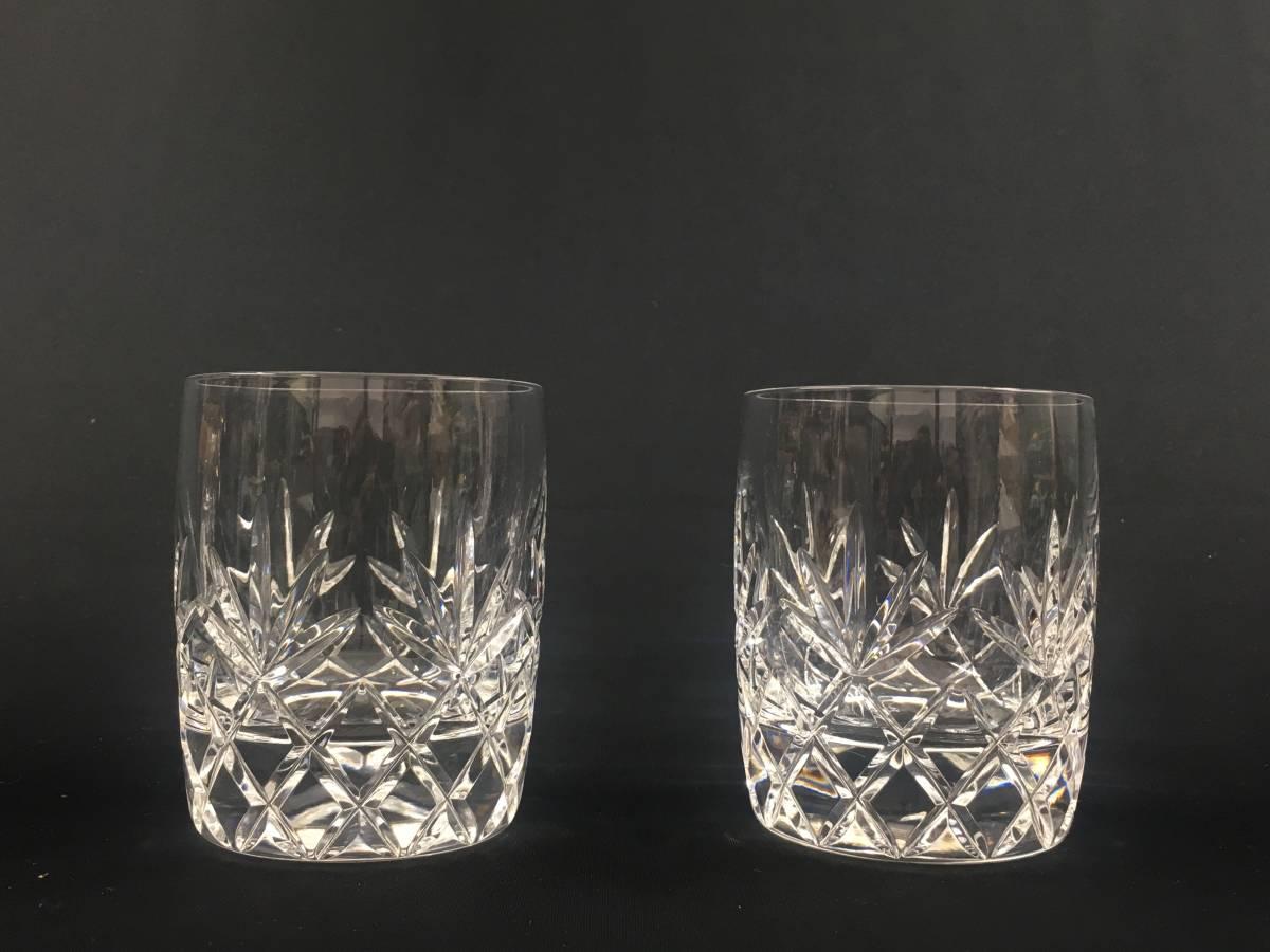 米ホワイトハウス使用 LENOX USA レノックス チャールストン クリスタルロックグラス ペア Charleston Double Old Fashioned Glass Tumbler_画像2