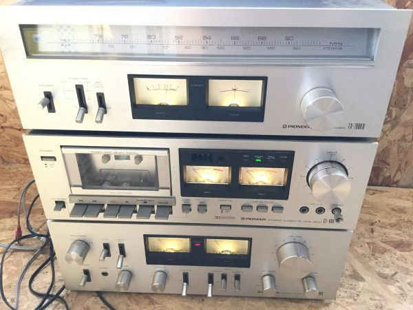 PIONEER パイオニア スピーカー 3way CS-F7000 アンプ チューナー カセットデッキ セット TX 7800Ⅱ CT405 SA7800Ⅱ_画像8