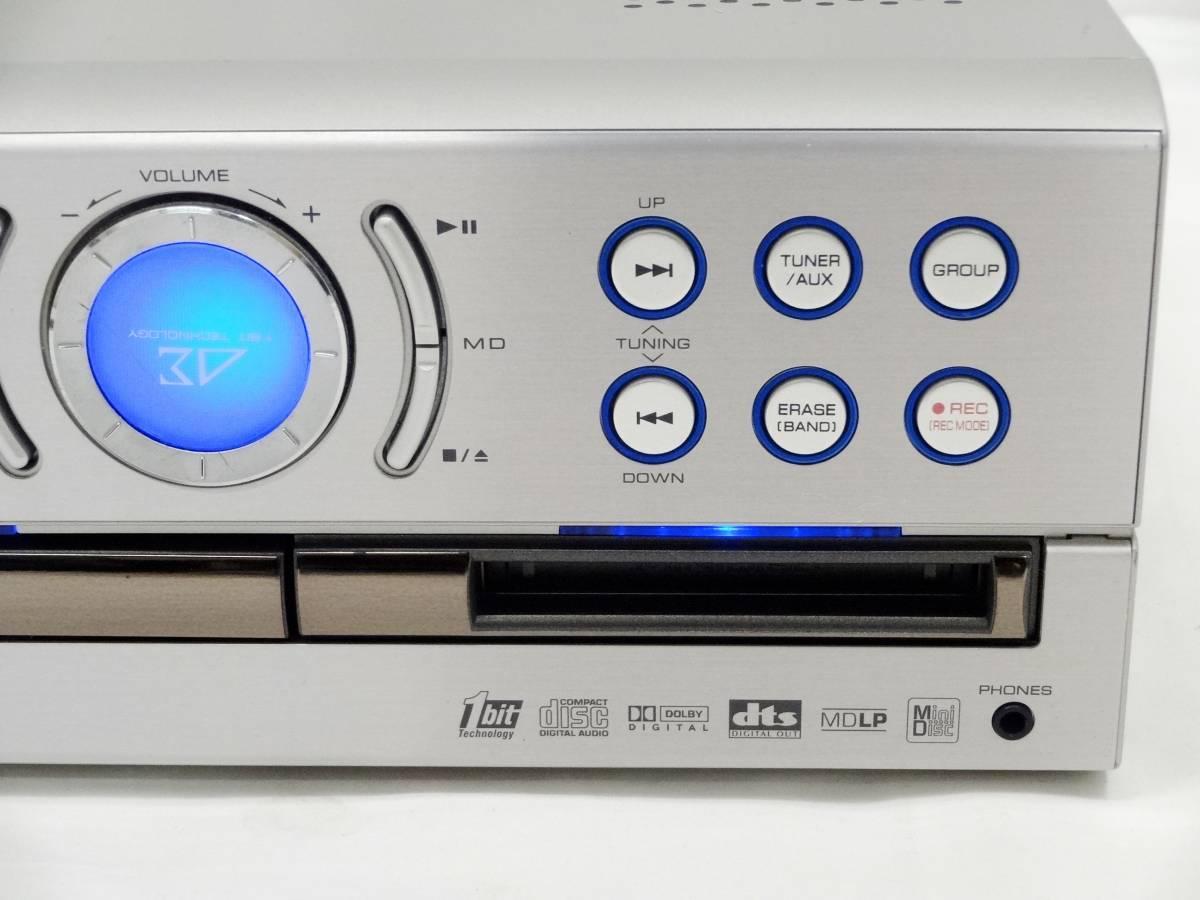 SHARP シャープ SD-VH90 DVD1ビットデジタルシステム DVD/CD/MD/チューナー プレーヤー コンポ [U]_画像4