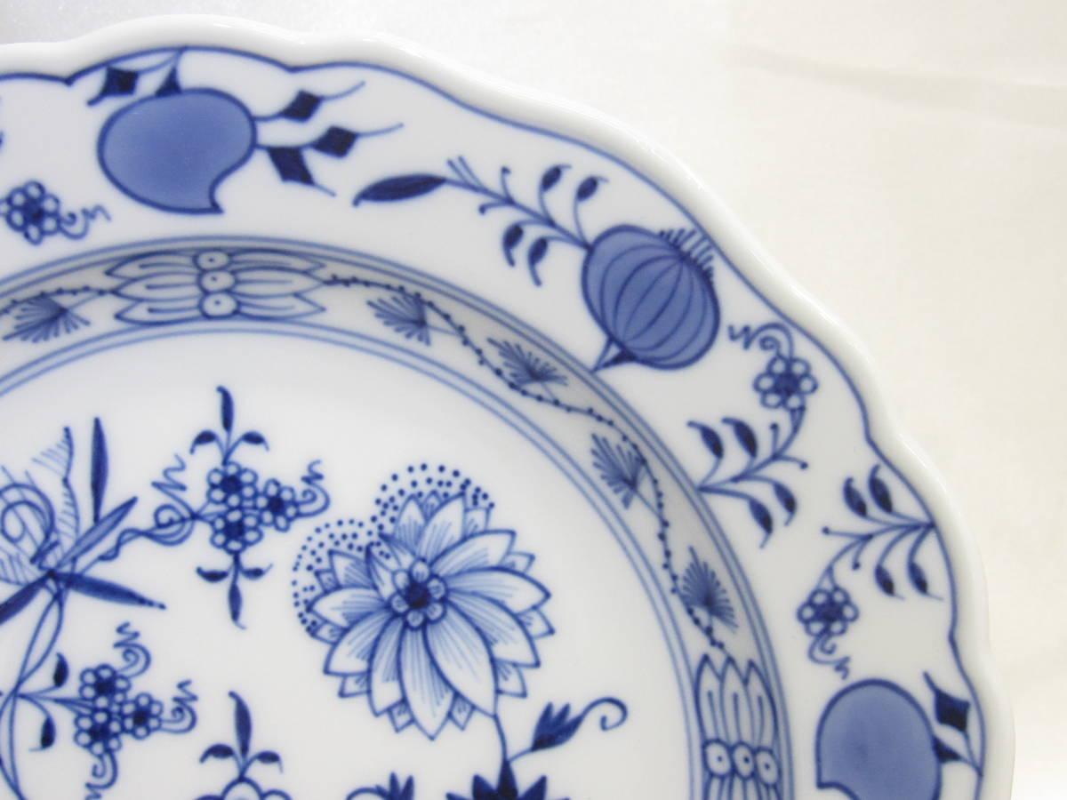 【MEISSEN/マイセン】ブルーオニオン/デザートプレート/ケーキ皿/(約)18㎝/6枚[R] _画像3