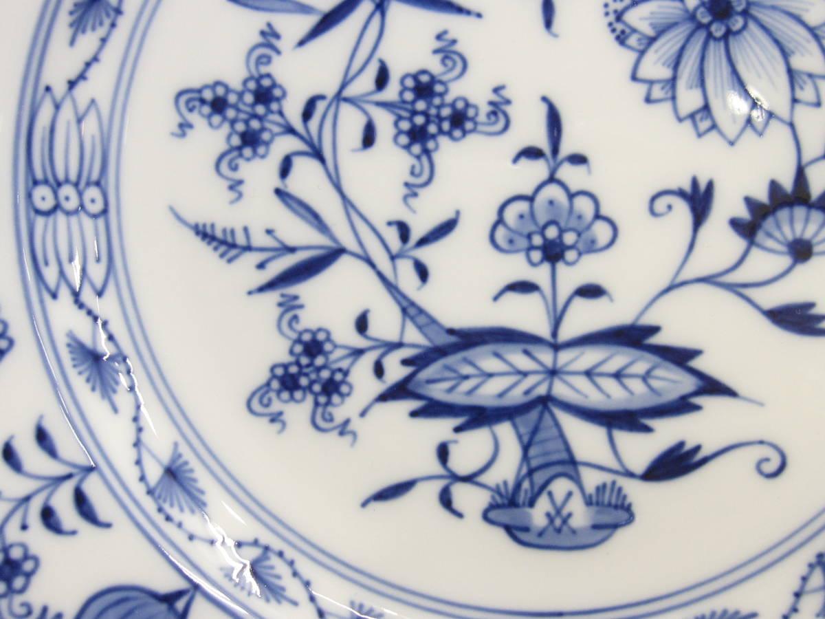 【MEISSEN/マイセン】ブルーオニオン/デザートプレート/ケーキ皿/(約)18㎝/6枚[R] _画像4