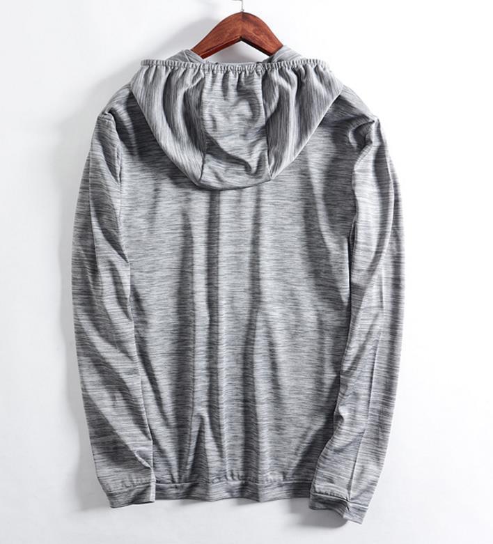 新品 メンズ ジャケット 日焼け止めパーカー アウター ブルゾン ランニングジャケット 通気 超薄手 ジャージ ジャンパー グレ/ M_画像3
