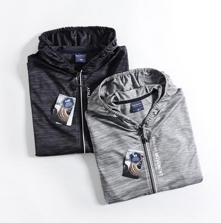 新品 メンズ ジャケット 日焼け止めパーカー アウター ブルゾン ランニングジャケット 通気 超薄手 ジャージ ジャンパー グレ/ M_画像4