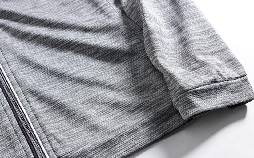 新品 メンズ ジャケット 日焼け止めパーカー アウター ブルゾン ランニングジャケット 通気 超薄手 ジャージ ジャンパー グレ/ M_画像5