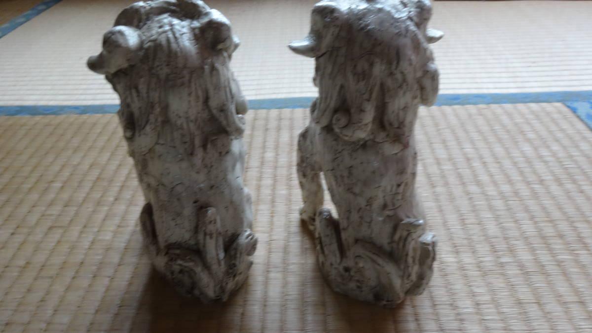 志野焼き 獅子 狛犬_画像2