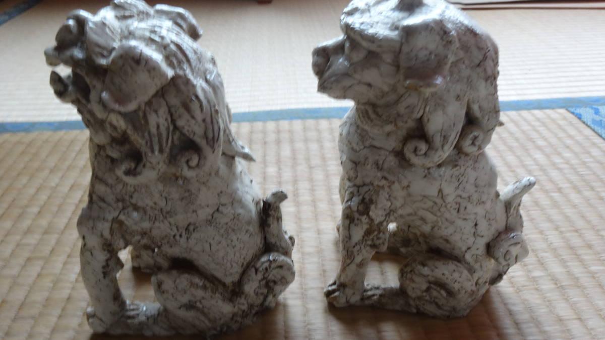 志野焼き 獅子 狛犬_画像3