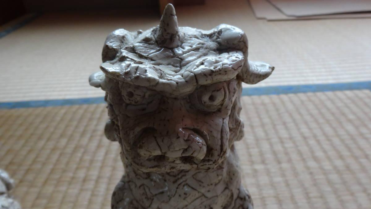 志野焼き 獅子 狛犬_画像6