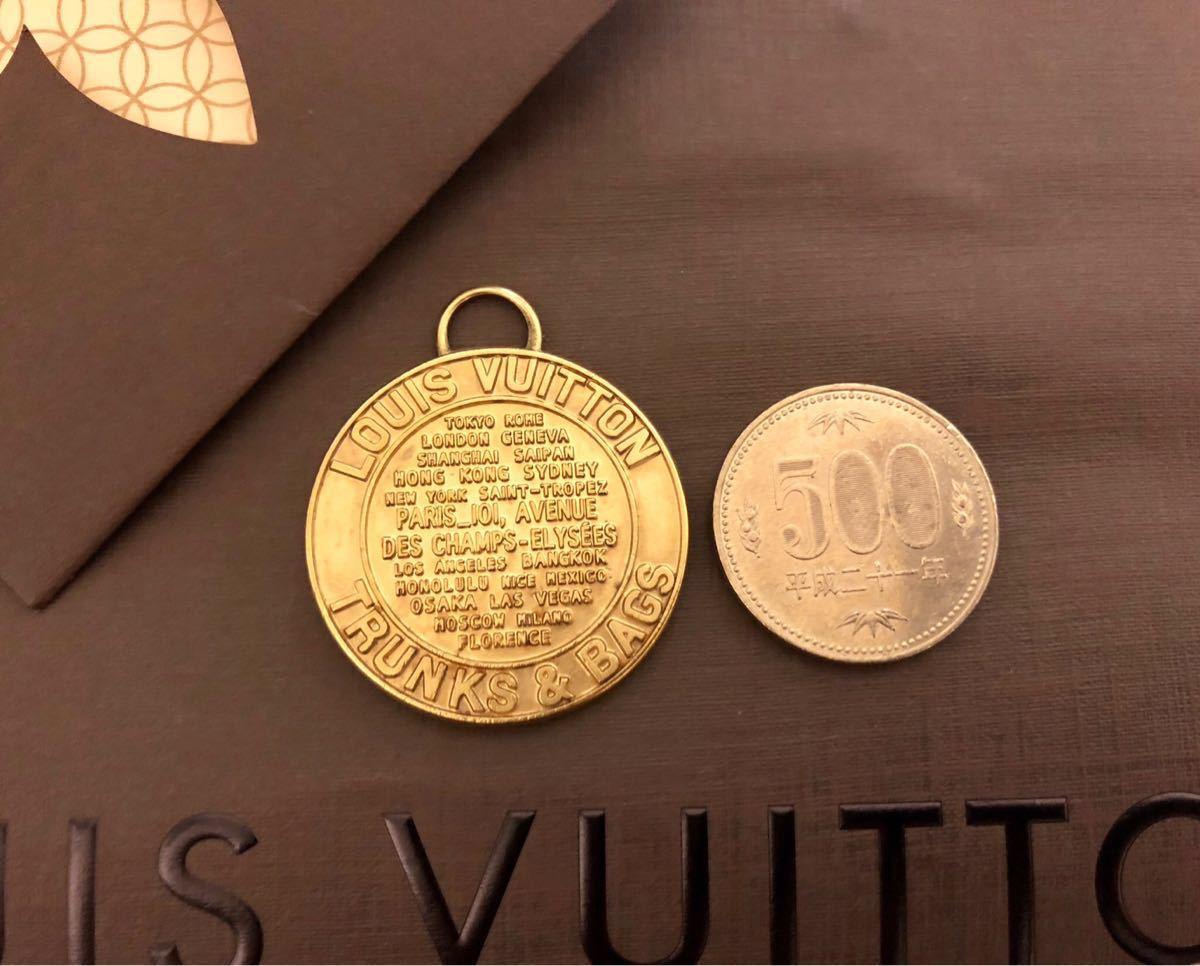 超美品 一点のみ 正規品 ルイヴィトン メダルトップ チャーム ネックレス ユニセックス ゴールド クリックポスト185円_画像2