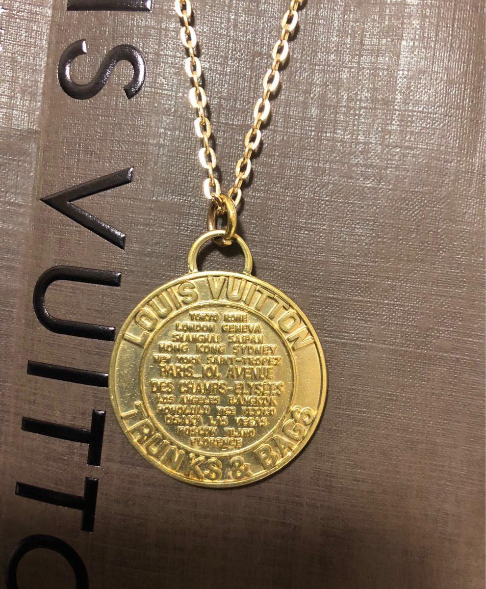 超美品 一点のみ 正規品 ルイヴィトン メダルトップ チャーム ネックレス ユニセックス ゴールド クリックポスト185円_画像6