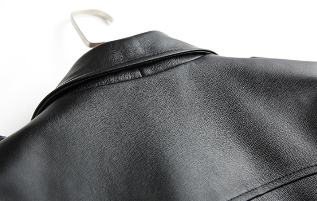 春秋定番/高級本革 上質ラム羊革 ライダースジャケット やせ見え レディースジャケット 襟付き 革ジャン お出掛け 普段着 _画像6