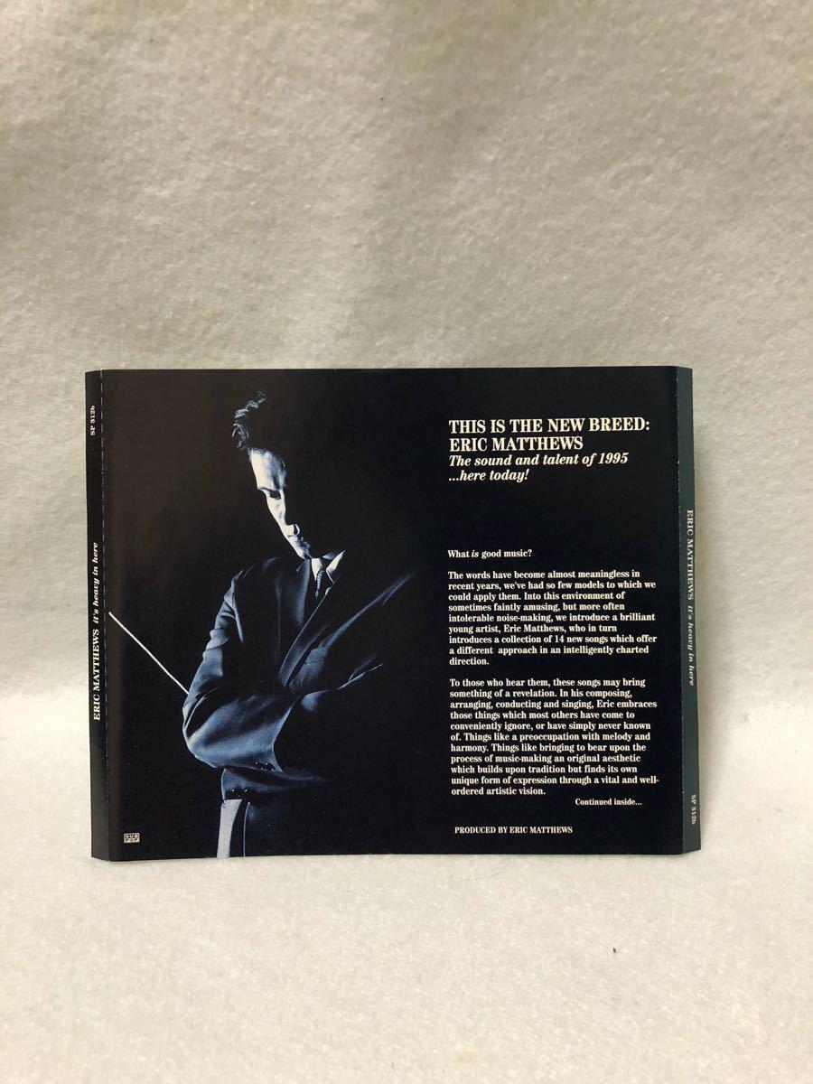 CD 蔵出し-359【洋楽】エリック・マシューズ/イッツ・ヘビー・イン・ヒア cc105_画像2