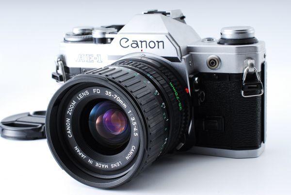 ★外観極上美品★Canon キヤノン AE-1 FD 35-70mm F3.5-4.5★モルト交換済み!B202_画像1