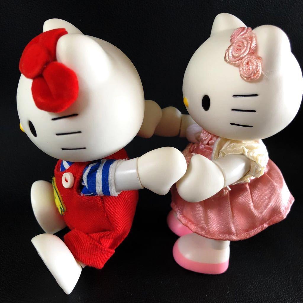 『1円スタート!』★ Hello Kitty ★【激レア・美品】自在フィギュア2点セット!1974・2004年スタイル★約11.5cm★30周年記念!現品限り!_画像8