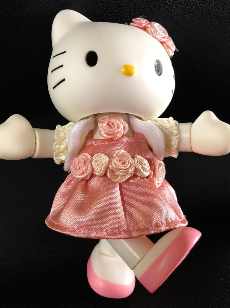 『1円スタート!』★ Hello Kitty ★【激レア・美品】自在フィギュア2点セット!1974・2004年スタイル★約11.5cm★30周年記念!現品限り!_画像9