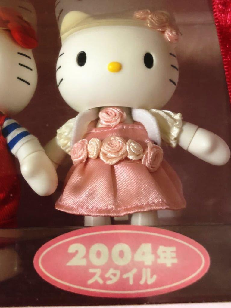 『1円スタート!』★ Hello Kitty ★【激レア・美品】自在フィギュア2点セット!1974・2004年スタイル★約11.5cm★30周年記念!現品限り!_画像5