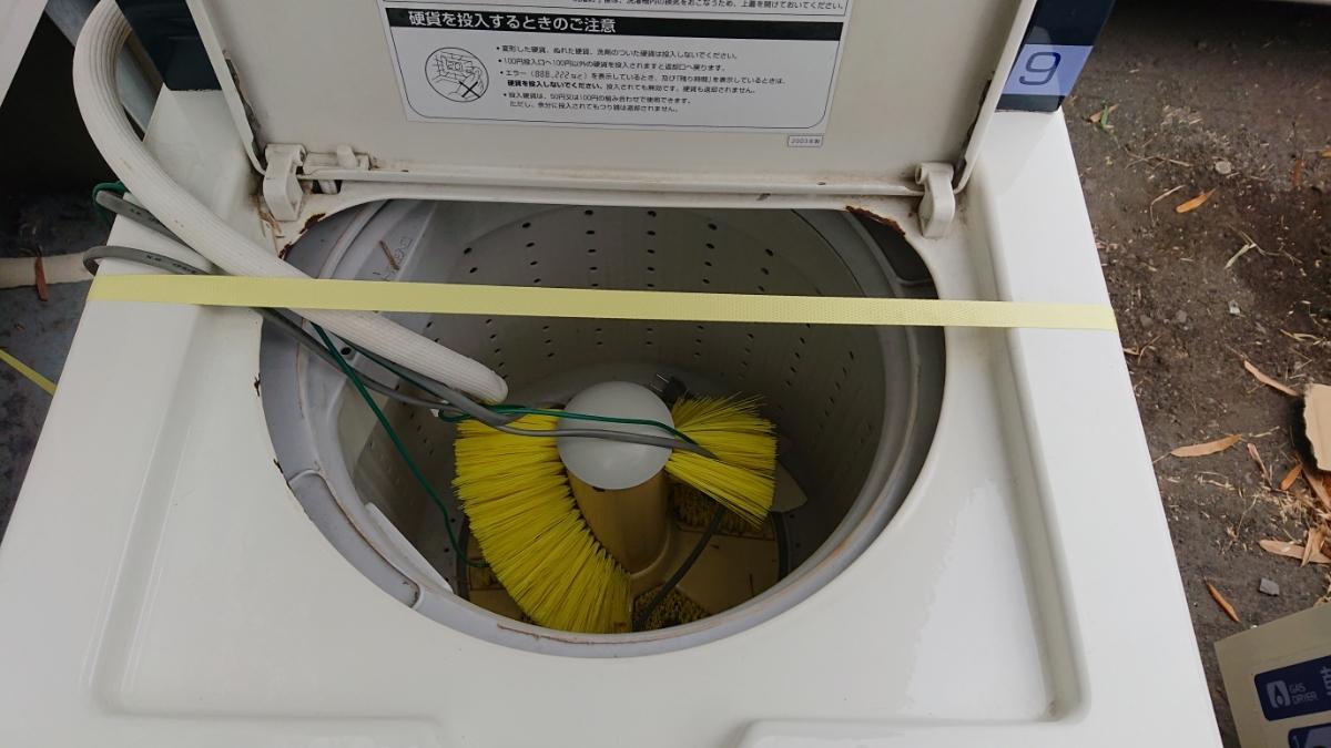 大分発 SANYO コイン式 スニーカーウォッシャー スニーカードライヤー コイン式洗濯機 乾燥機 SNL-D3C SNL-W3C サンヨー 60Hz 実働品 鍵有_画像7