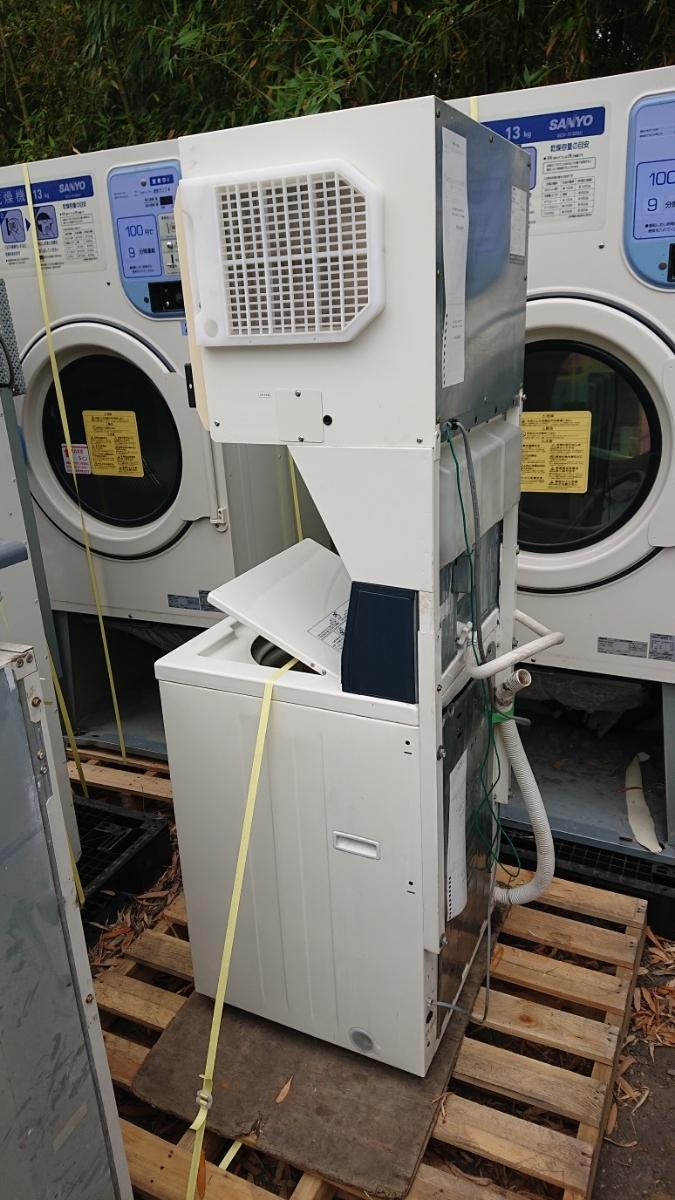 大分発 SANYO コイン式 スニーカーウォッシャー スニーカードライヤー コイン式洗濯機 乾燥機 SNL-D3C SNL-W3C サンヨー 60Hz 実働品 鍵有_画像8