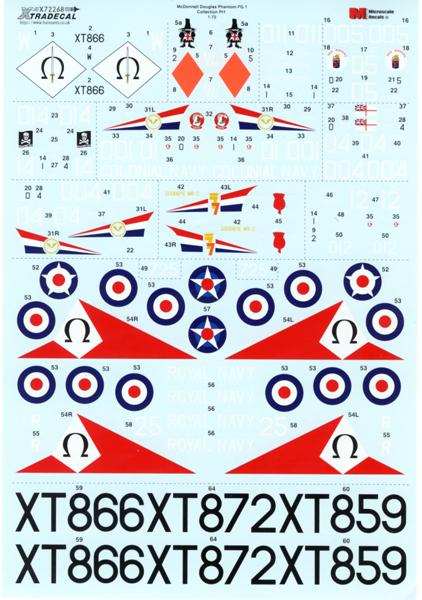 X72268 エクストラデカール 1/72:イギリス海軍 ファントム FG.1_画像3