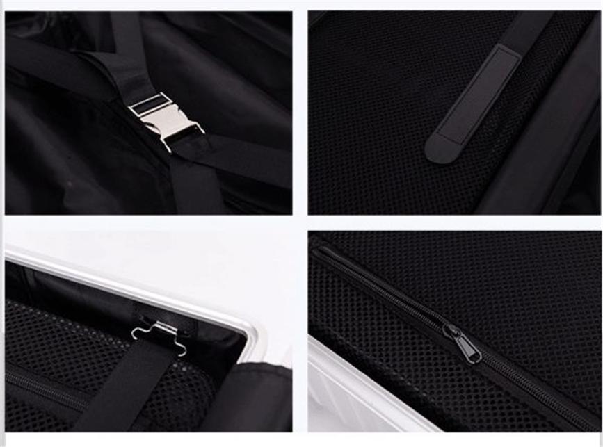 高品質 オールアルミマグネシウム合金 スーツケース トラベルバッグ 頑丈 フレーム TSAロック搭載キャリーケース 24インチ 3_画像2