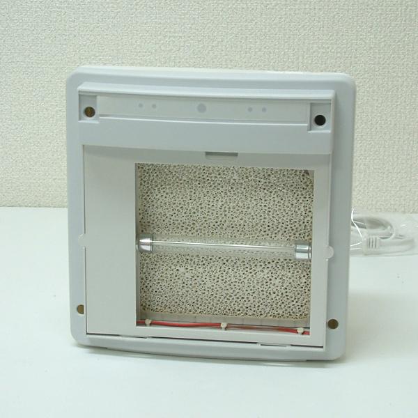 セラミックフィルターと紫外線ランプ