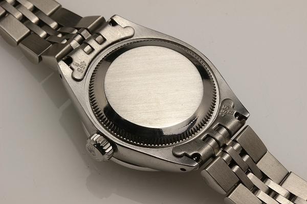 ◆ロレックス パーペチュアルデイト レディ 6924 グロスブラック×10ダイヤモンド OH済 保証付◆_画像9