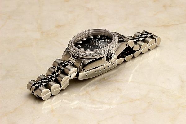 ◆ロレックス パーペチュアルデイト レディ 6924 グロスブラック×10ダイヤモンド OH済 保証付◆_画像7