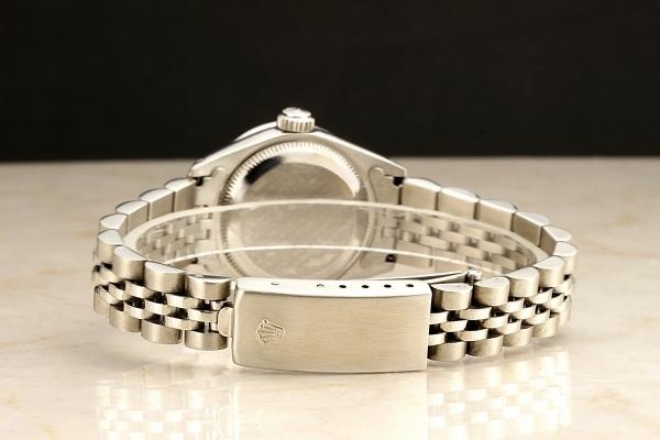 ◆ロレックス パーペチュアルデイト レディ 6924 グロスブラック×10ダイヤモンド OH済 保証付◆_画像5