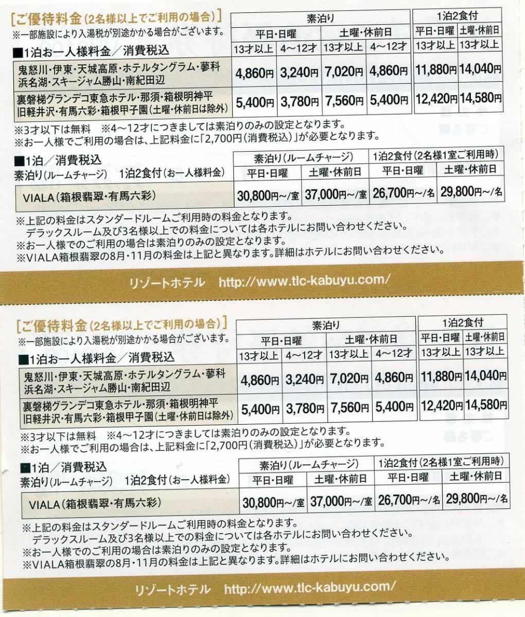 東急不動産 株主様ご宿泊優待券 2枚セット