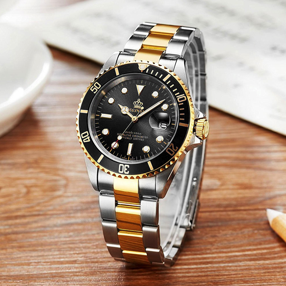 高品質 ダイバーウォッチ 腕時計 メンズ 人気トップブランド ROLEX風 サブ マリーナ ステンレス 300M防水性サファイア 共箱 国内発送即