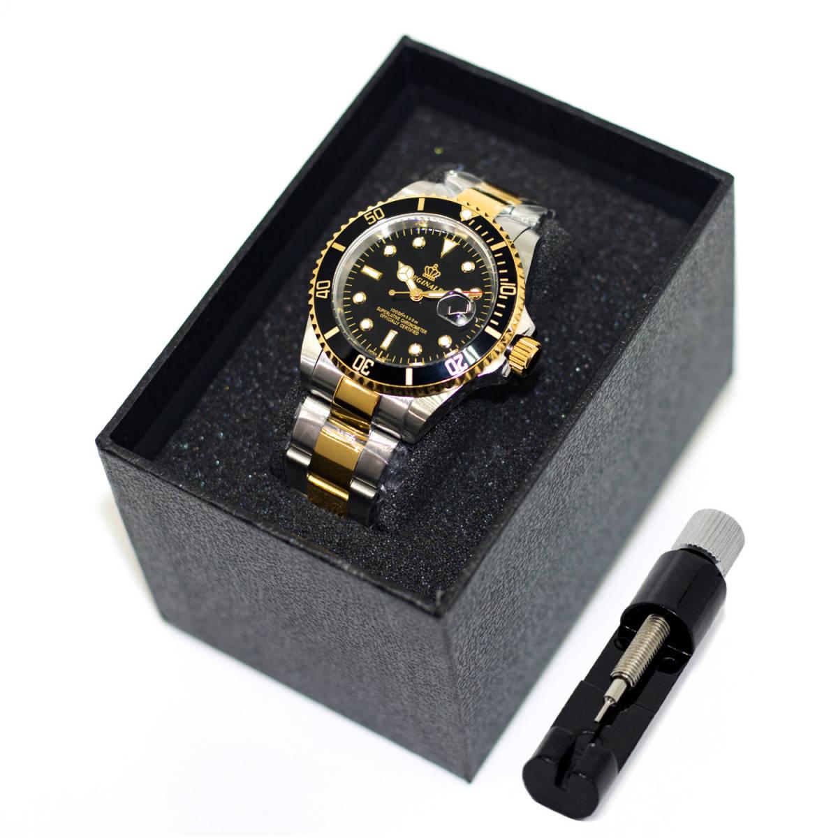 高品質 ダイバーウォッチ 腕時計 メンズ 人気トップブランド ROLEX風 サブ マリーナ ステンレス 300M防水性サファイア 共箱 国内発送即_画像8