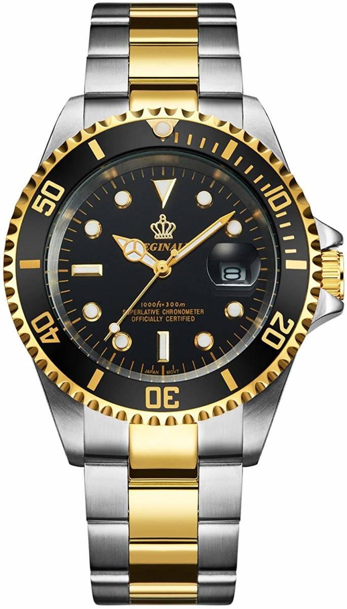 高品質 ダイバーウォッチ 腕時計 メンズ 人気トップブランド ROLEX風 サブ マリーナ ステンレス 300M防水性サファイア 共箱 国内発送即_画像3