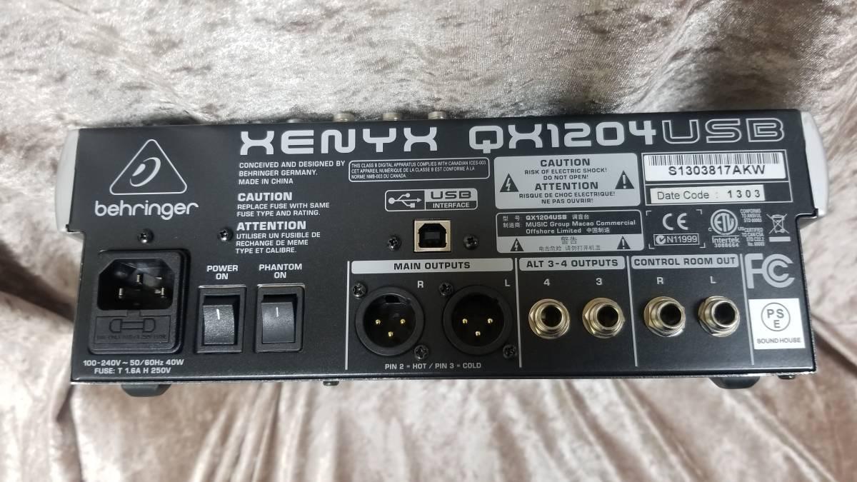 BEHRINGER QX1204USB USB & FX搭載アナログミキサー_画像3