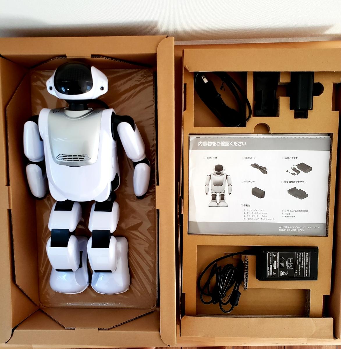 【美品・送料無料・即決あり】DMM make ROBOTS/FUJISOFT Palmi(パルミー) 二足歩行ロボット PRT-D004JW 購入価格32万円_画像7