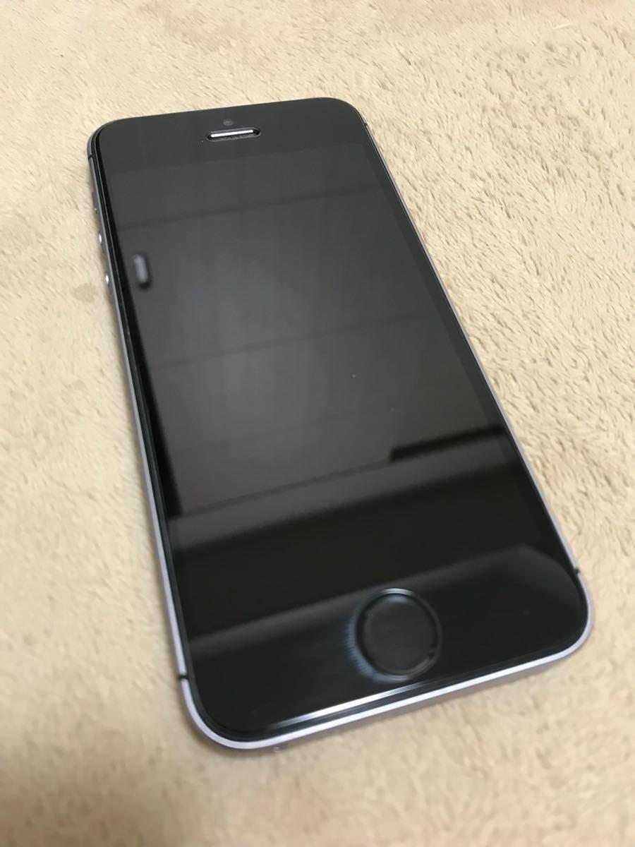 【USED】SIMフリー iPhone SE 128GB スペースグレイ A1723 MP862J/A _画像2